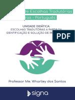 Workshop de Escolhas Tradutórias – Aula 1 – Traduz Aí