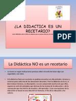 E1(2) La didactica no es un recetario MEDAURA