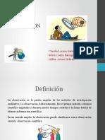OBSERVACIÓN diapositivas
