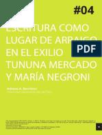 Escritura en el exilio mercado y Negroni.pdf