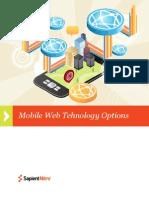 SapientNitro Mobile Web Technology Options