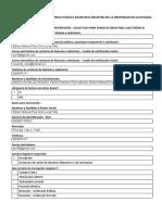 Formulario de Solicitud de Inscripción ACTUALIZADA