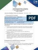 Guía de actividades SALUD OCUPACIONAL