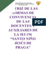 MATRIZ-DOCENTES Y AUXILIARES DE LA IEI 196