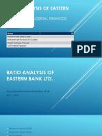 Ratio analysis of Eastern Bank Ltd