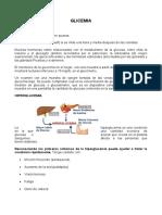 informe glicemia