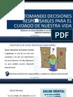 TOMEMOS DECISIONES RESPONSABLES PARA CUIDAR NUESTRA SALUD MENTAL