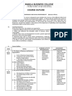 Course Outline Social Responsibility and Good Governance