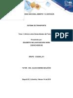 Tarea 1 - Informe sobre Generalidades de Transporte