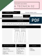 Ficha tecnica de Pantalon Masculino