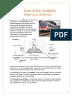 Características de los materiales que conforman una vía férrea