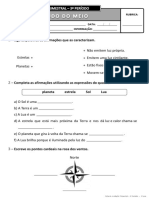 Ficha de Avaliação Trimestral - 3º Período - 3º Ano EM_I