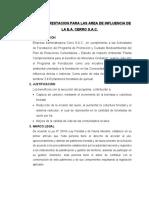 PLAN DE FORESTACION PARA LAS AREA DE INFLUENCIA DE LA E