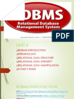 Unit II (RDBMS)