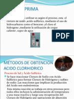 MÉTODOS DE OBTENCION DEL ACIDO CLORHIDRICO