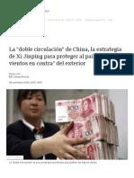 La _doble circulación_ de China, la estrategia de Xi Jinping para proteger al país de _los vientos en contra_ del exterior - BBC News Mundo