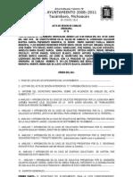 78 Acta de Sesion de Cabildo