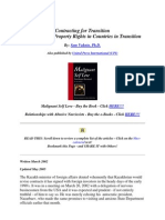Contracts and Property Rights in Countries in Transition
