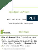 Programação - Aula 04 - Introdução ao Python