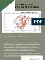 Analisis de Fallas Geologicas en El Ecuador