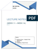 LPE2501 LECTURE NOTES 5 (WEEK 11-14)