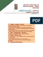LAMPEA-Doc 2011 - numéro 6 / Vendredi 11 février 2011