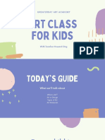 Fun Colorful Organic Art Class Kids Education Presentation
