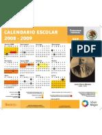 CALENDARIO ESCOLAR 2008 2009 SEP 080818