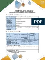 Guía de actividades y Rúbrica de evaluación - Tarea 1 - Reconocimiento. El diseñador y el artista