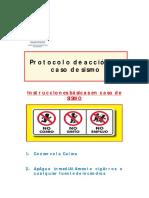 Protocolo de acción de sismo
