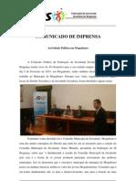 comunicado imprensa Federação JS em Mogadouro