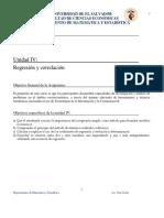 Guia Unidad IV Regresión y correlación 2020