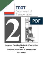 Concrete Plant Quality Control Technician Manual