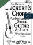 Guckerts Chords for the Hawaiian Steel Guitar