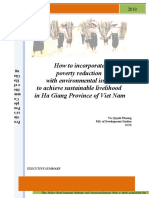 Policy Brieft on poverty reduction and environment