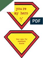you're my hero valentines