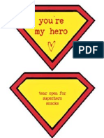 you're my hero valentines