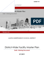 Austin ISD Preliminary Draft Ten Year Facility Master Plan