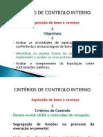 Aquisição B & S Objectivos e Critérios de Controlo