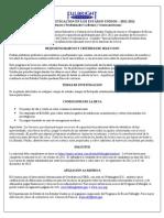 Programa de becas para Investigadores Visiting Scholars Promo - Spanish 2011-12