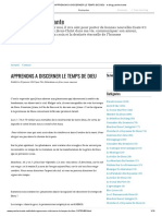 APPRENONS A DISCERNER LE TEMPS DE DIEU - le blog parolevivante