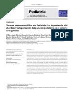 Trauma craneoencefálico en Pediatría- La importancia del abordaje y categorización del paciente pediátrico en el servicio de urgencias