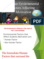 Human Environmental Factors Affecting Report