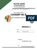 Cookery Module 2