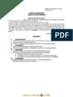Devoir de Contrôle N°1 Lycée pilote - Français - 3ème Toutes Sections (2011-2012) Mr DIOP LHG