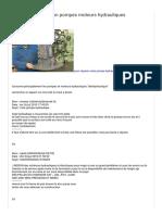 Probleme pompe hydraulique