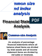 Common Size and Index Analysis