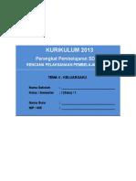 [4] RPP SD KELAS 1 SEMESTER 1 - Keluargaku