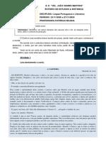 2º B - LÍNGUA PORTUGUESA - 23-11-2020