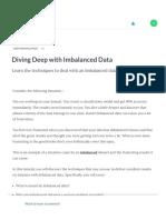 Diving Deep with Imbalanced Data (article) - DataCamp